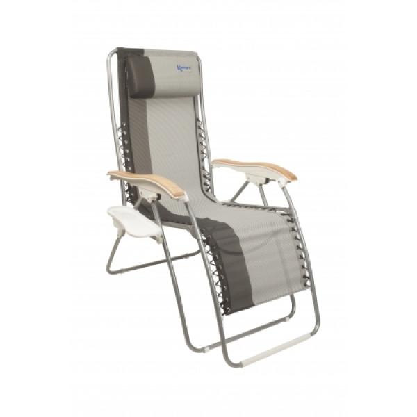 Chaise longue de camping kampa opulence raviday camping for Recherche chaise longue