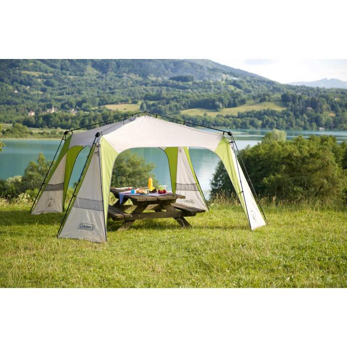 abri de camping coleman instant event shelter 427 x 427 cm. Black Bedroom Furniture Sets. Home Design Ideas