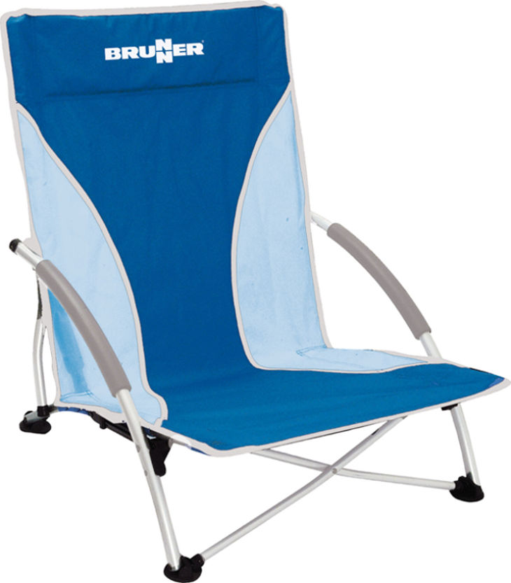 Chaise de plage brunner cuba bleue raviday camping for Chaise de plage