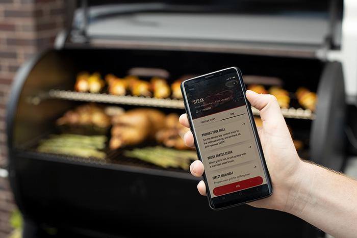 Weber Connect sur le SmokeFire Pellet Grill