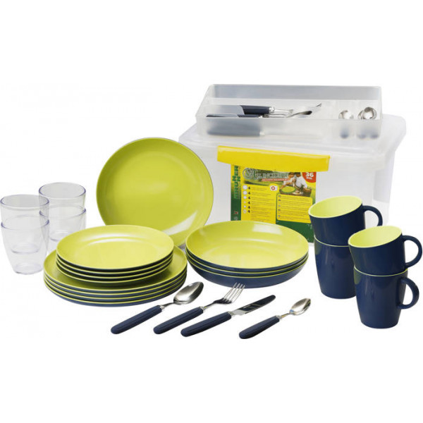 Set complet de vaisselle Brunner All Inclusive Jungle Blue - EP