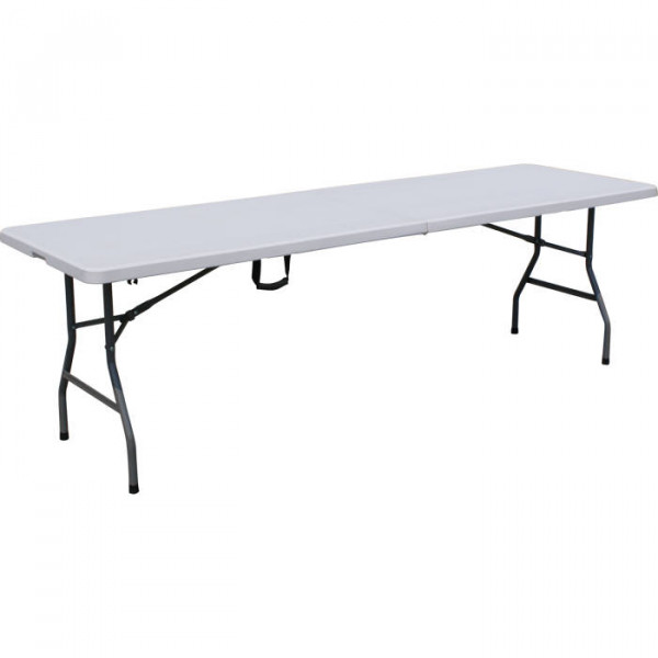 Table pliable raviday blanche xxl raviday camping for Table blanche pliable