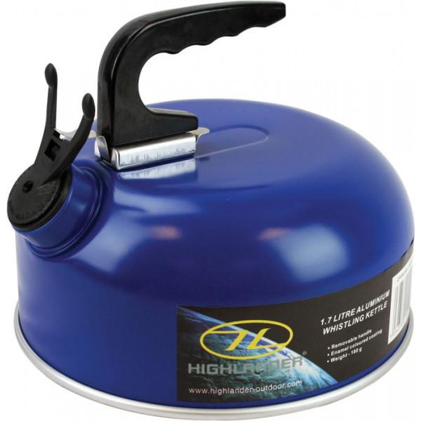 Bouilloire siffleuse Highlander 2L bleue