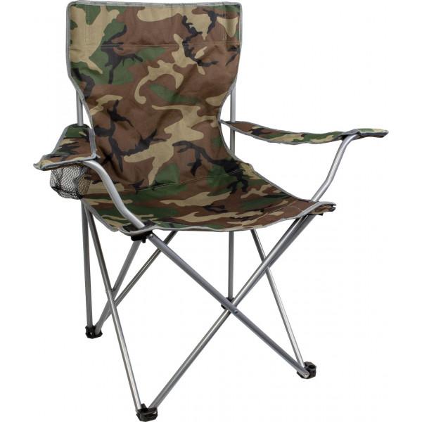 Chaise de camping pliante Moray avec porte boissons Camo