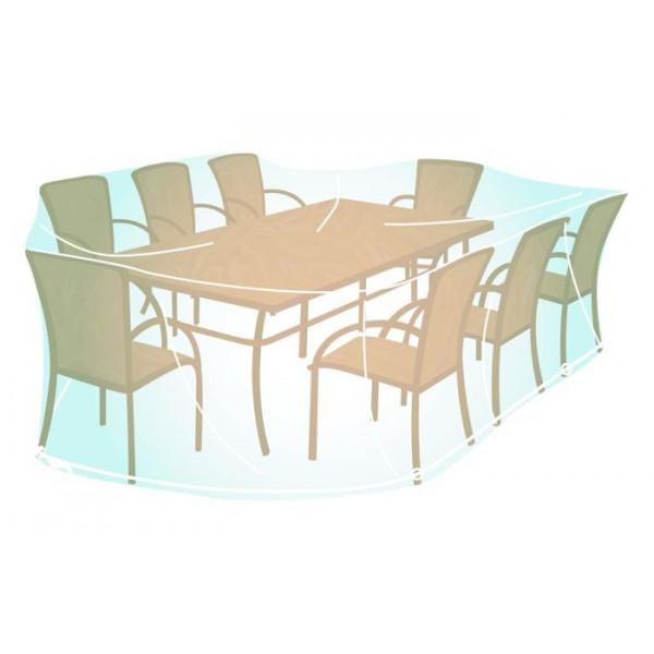 Housse pour mobilier de jardin rectangulaire ou oval XL