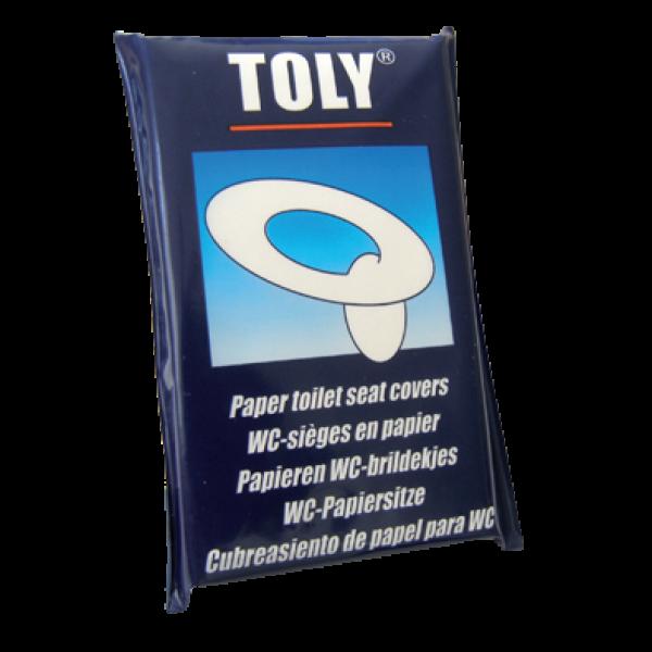 Couvre siege wc jetable en papier Toly x25