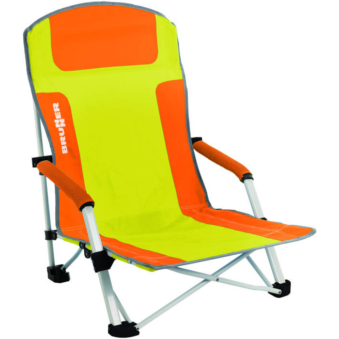 Chaise de plage brunner bula orange raviday camping for Chaise de plage