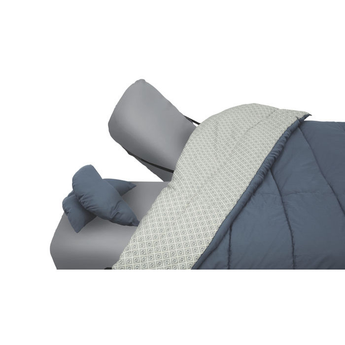 Sac de couchage 2 personnes outwell caress raviday camping - Matelas gonflable duvet integre ...