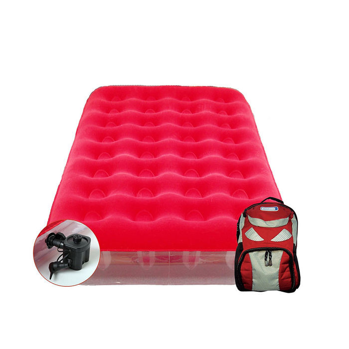 Matelas gonflable lectrique aerobed sleepover avec sac - Matelas gonflable electrique 1 personne ...