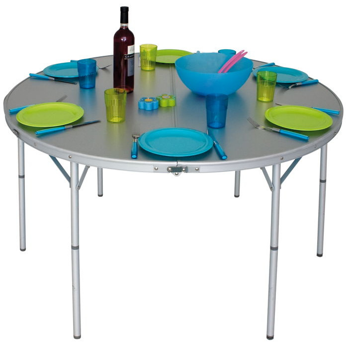 table de camping ronde pliante eurotrail circle 120. Black Bedroom Furniture Sets. Home Design Ideas