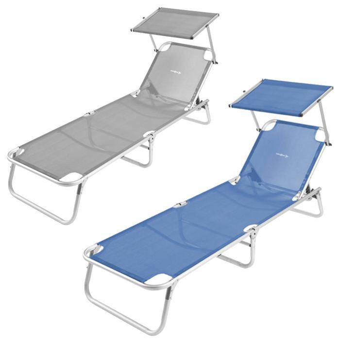 lit de plage avec pare soleil brunner malibu raviday camping