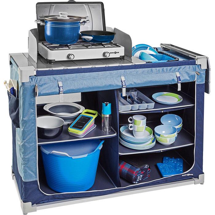 Meuble de cuisine Brunner Jum-Box 3G-CTW - Bleu / Gris   Raviday ...
