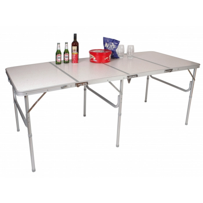 Table de camping r glable pour 6 ou 8 personnes for Table 30 personnes