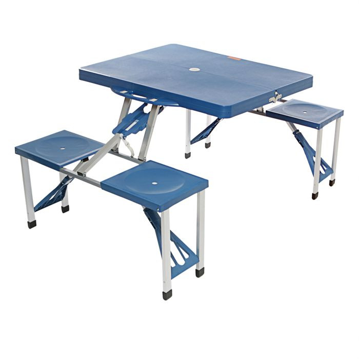 Table valise PIC-NIC bleu