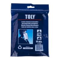 Gant de toilette jetables x10 - TOLY