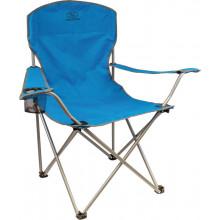 "Chaise de camping pliante Highlander ""Traquair"" Bleue avec porte-boissons"