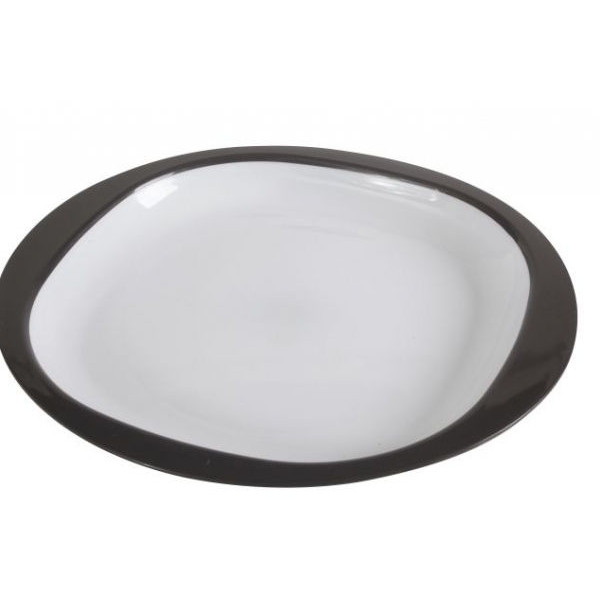 Service à vaisselle mélamine 12 pièces Dinner Set Gris